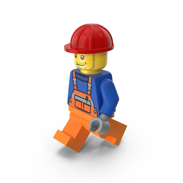 Lego Worker Walking PNG & PSD Images