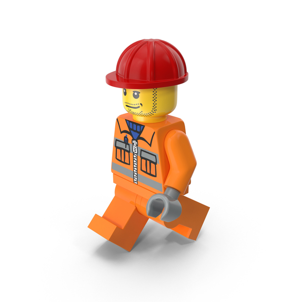 People: Lego Worker Walking PNG & PSD Images
