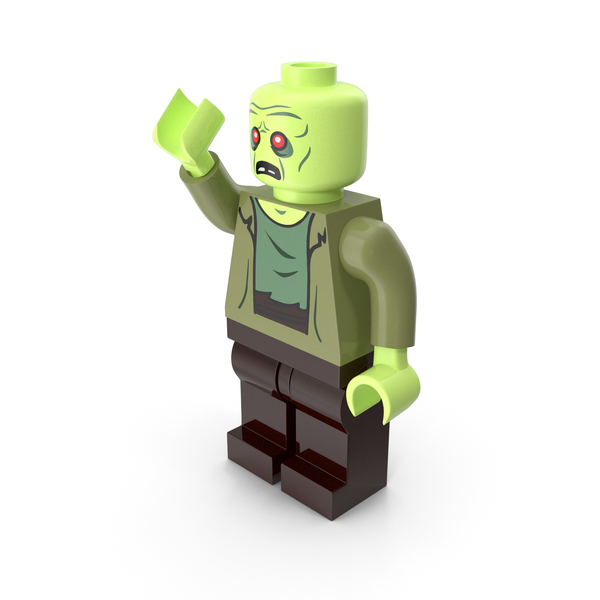 Brick: Lego Zombie Pose PNG & PSD Images