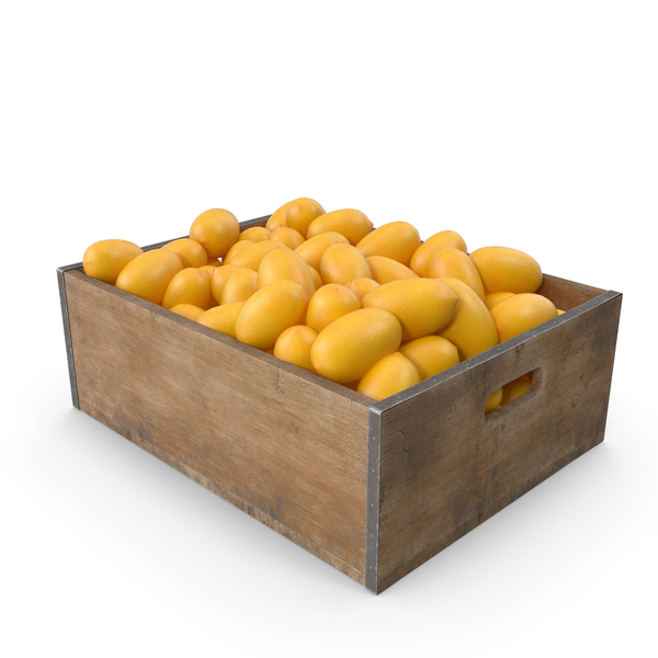 Lemon Fruit Crate PNG & PSD Images