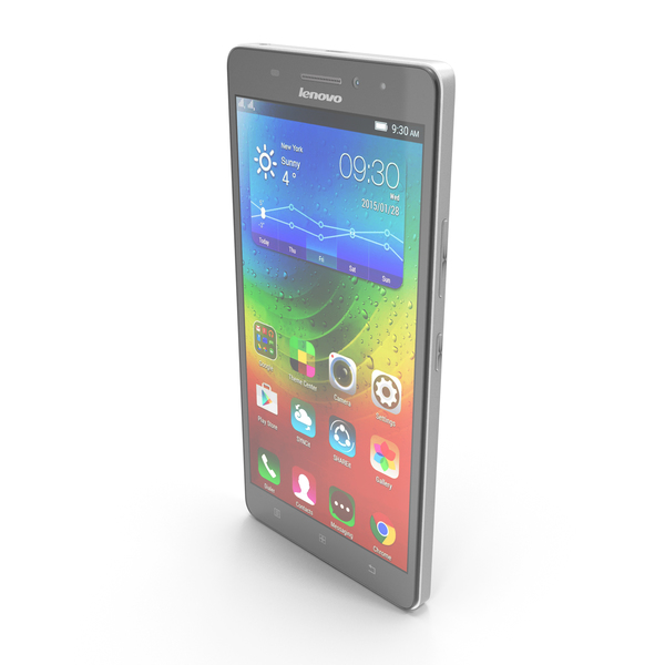 Lenovo A7000 Pearl White PNG & PSD Images