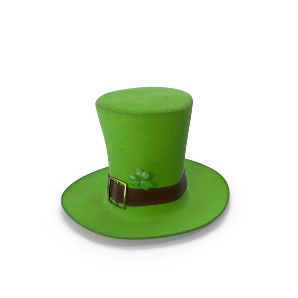 Leprechaun Hat With Clover Light PNG & PSD Images