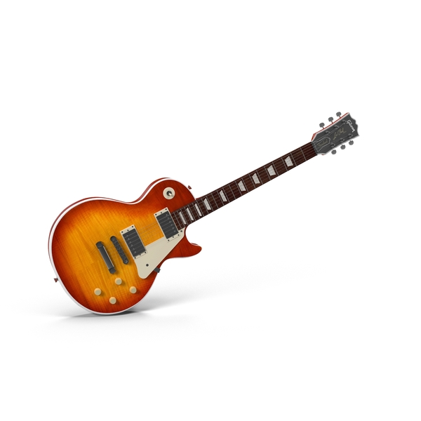 Electric Guitar: Les Paul Sunburst Angled PNG & PSD Images
