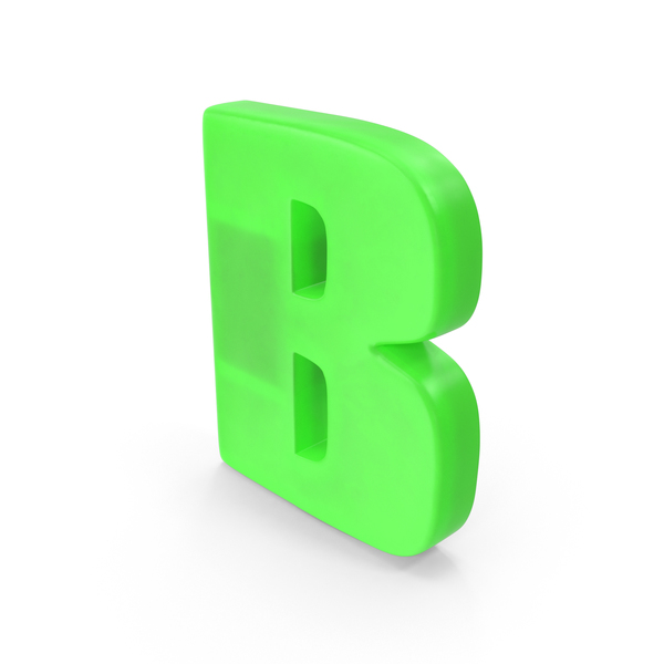 Letter B Fridge Magnet Object