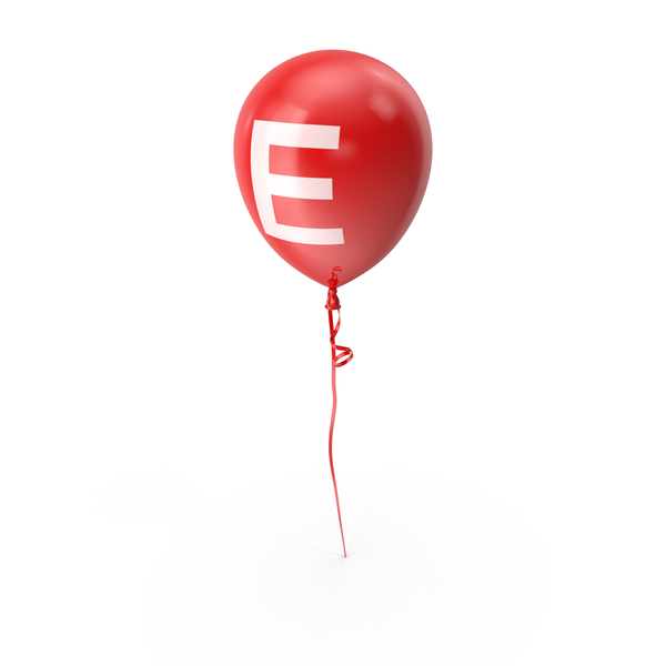 Letter E Balloon PNG & PSD Images