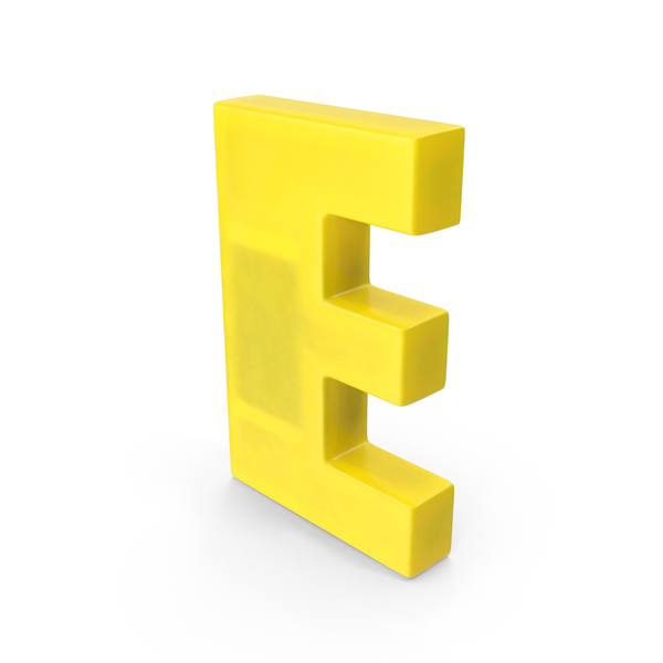 Letter E Fridge Magnet Object