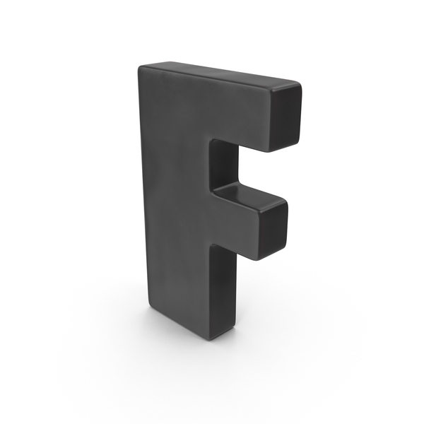Letter F Fridge Magnet Object
