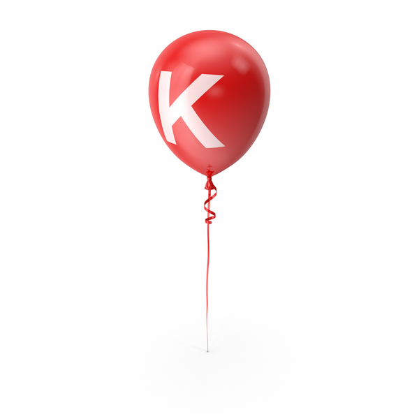 Letter K Balloon PNG & PSD Images
