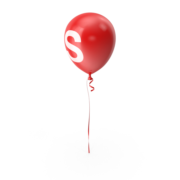 Letter S Balloon PNG & PSD Images