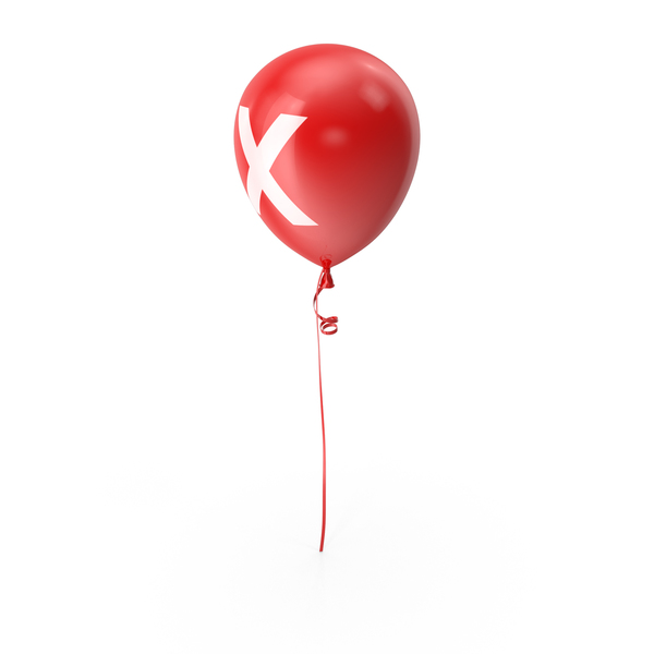 Letter X Balloon PNG & PSD Images