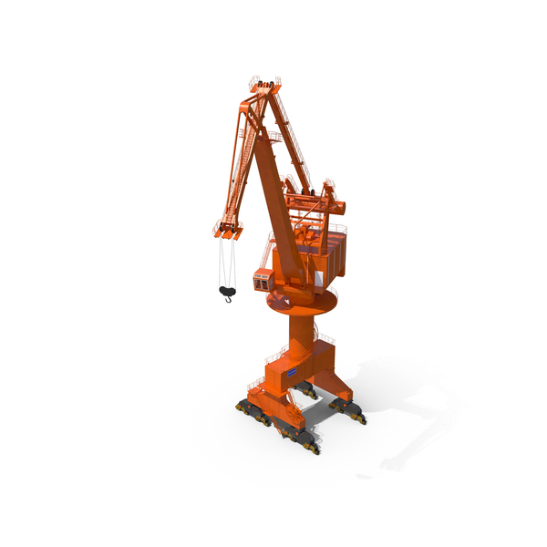 Level Luffing Port Crane PNG & PSD Images