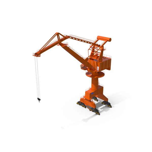 Level Luffing Port Crane Object