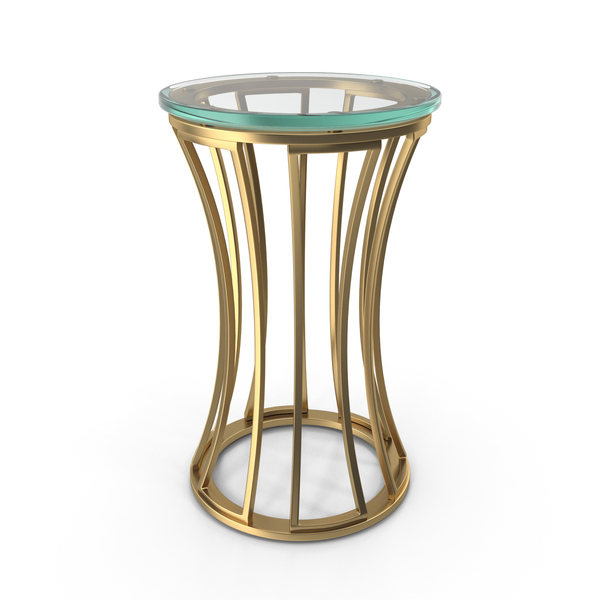 Lexington Stratford Round Glass Accent Side Table PNG & PSD Images