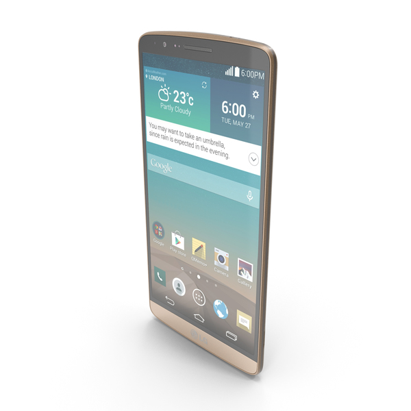 LG G3 Shine Gold PNG & PSD Images