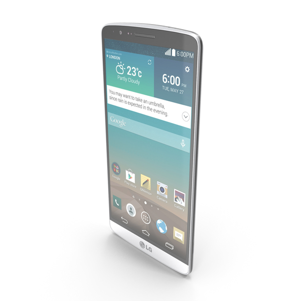 LG G3 Silk White PNG & PSD Images