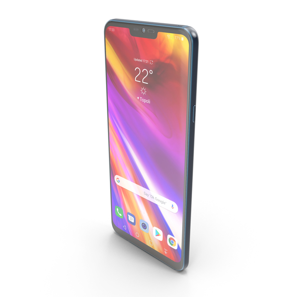 LG G7 ThinQ New Moroccan Blue PNG & PSD Images