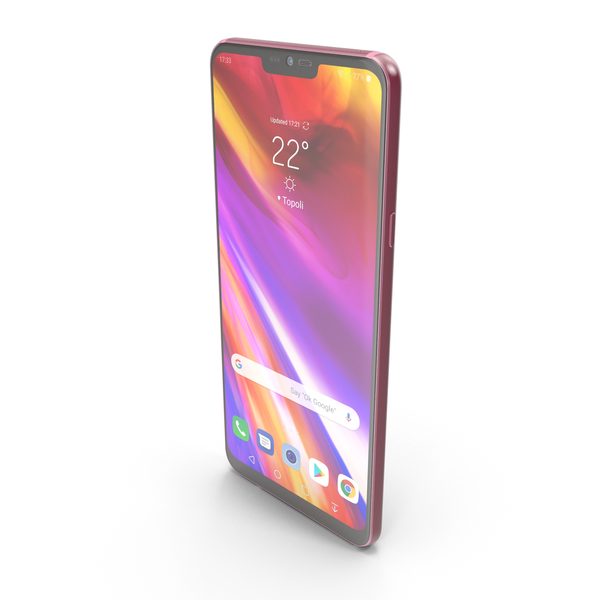 LG G7 ThinQ Raspberry Rose PNG & PSD Images