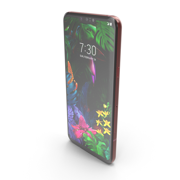 Smartphone: LG G8 ThinQ Carmine Red PNG & PSD Images