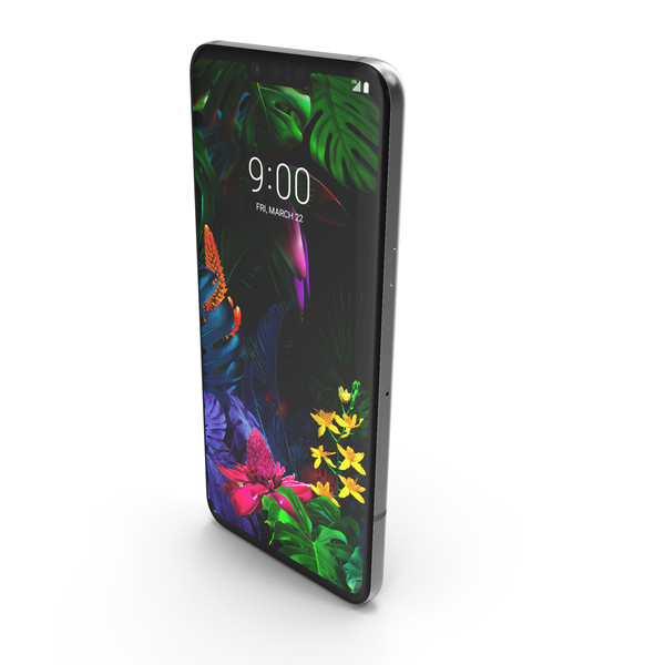 LG G8 ThinQ New Platinum Gray PNG & PSD Images