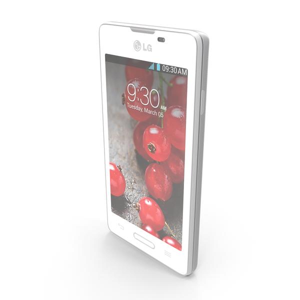 LG Optimus L5 II E460 Black & White PNG & PSD Images