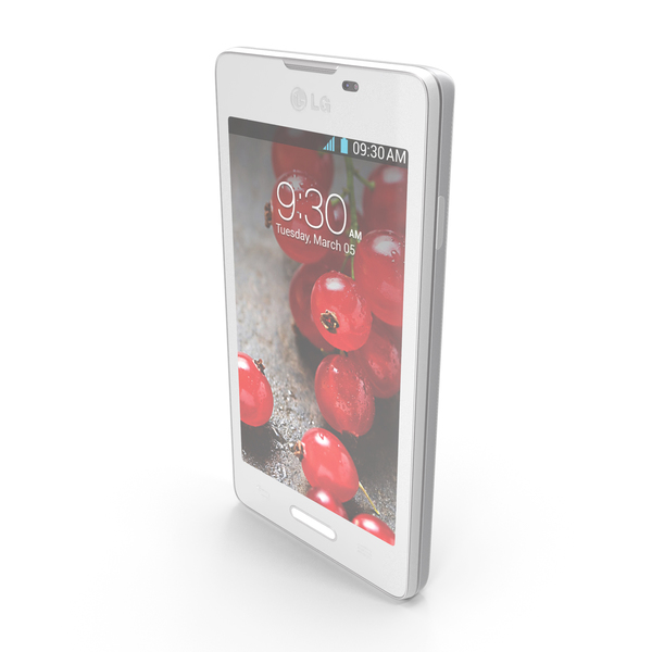 Smartphone: LG Optimus L5 II E460 White PNG & PSD Images