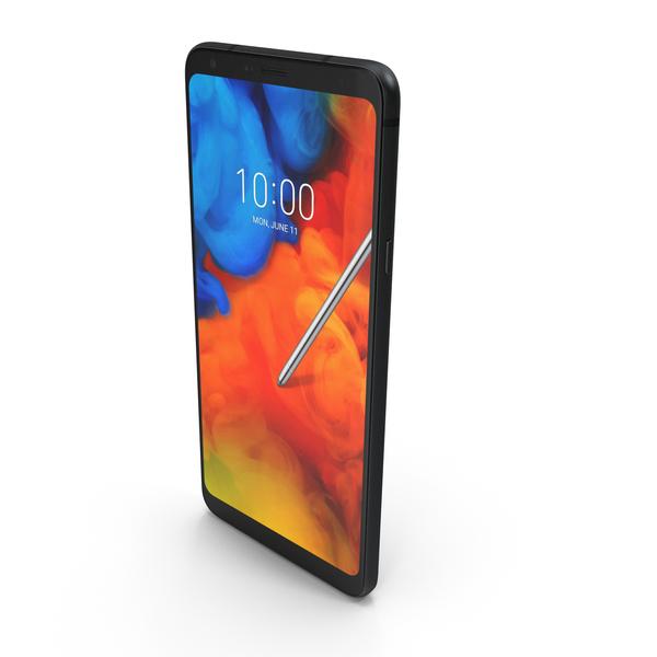 LG Q Stylus (Prime, Alpha, Plus) Aurora Black PNG & PSD Images