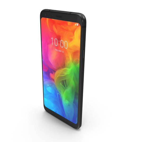 LG Q7 (Alpha) Aurora Black PNG & PSD Images