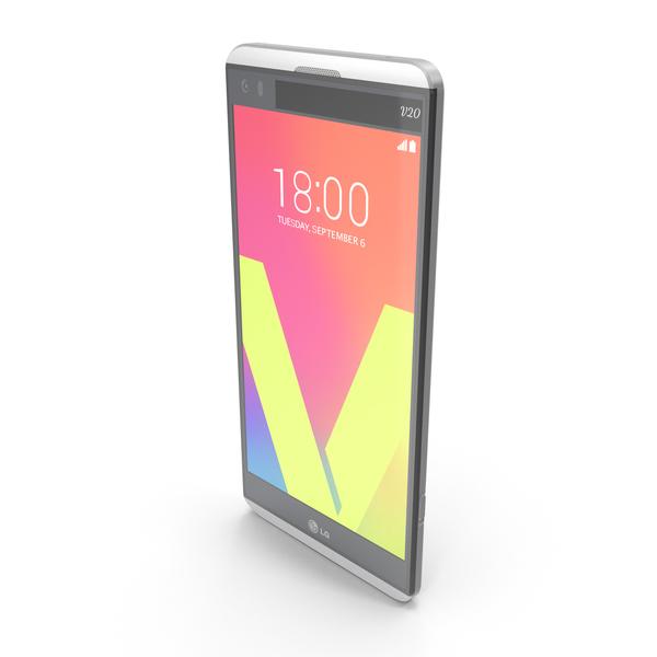 LG V20 Silver PNG & PSD Images