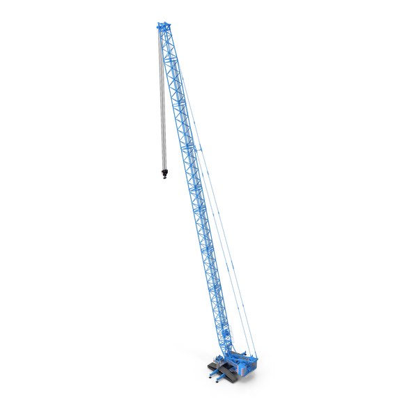 Liebherr Crawler Crane LR 1600/2 S96m Blue PNG & PSD Images