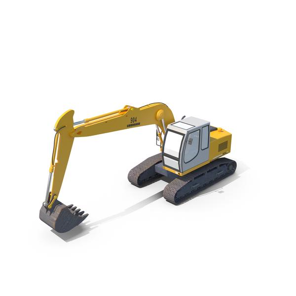 Liebherr Excavator PNG & PSD Images