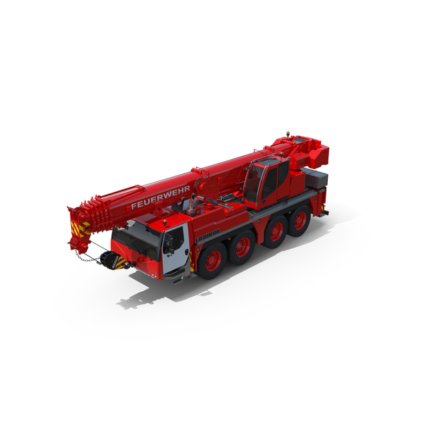 Engine: Liebherr Fire Crane PNG & PSD Images