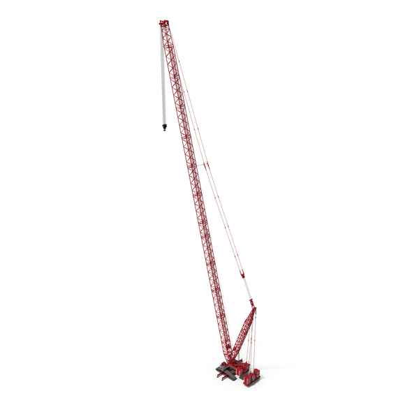 Industrial Equipment: Liebherr LR 1600 2 HSDB 144m Red PNG & PSD Images