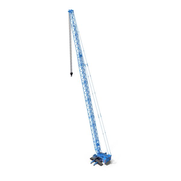 Liebherr LR 1600 2 SL 102m Blue PNG & PSD Images