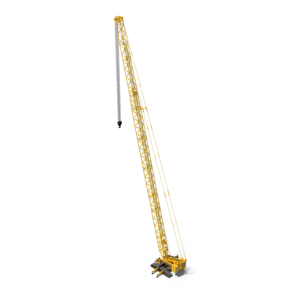 Industrial Equipment: Liebherr LR 1600 2 SL 102m Yellow PNG & PSD Images