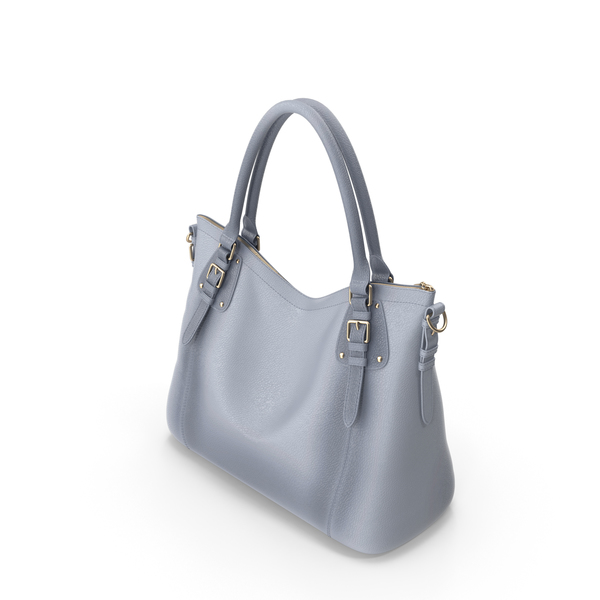 Light Blue-Grey Kattee Women's Vintage Soft Leather Tote Shoulder Bag PNG & PSD Images