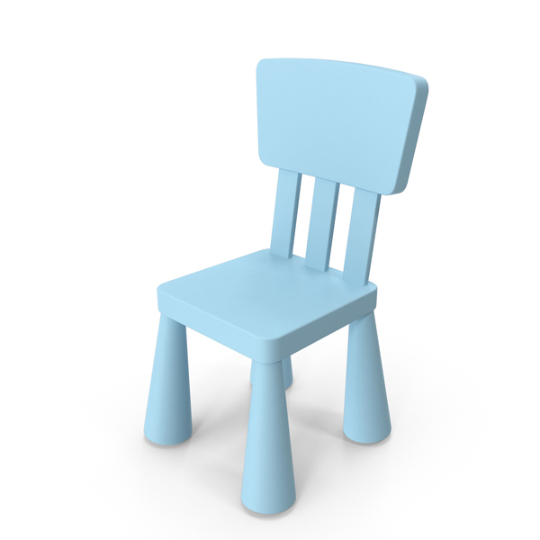 Light Blue Ikea Mammut Chair PNG & PSD Images