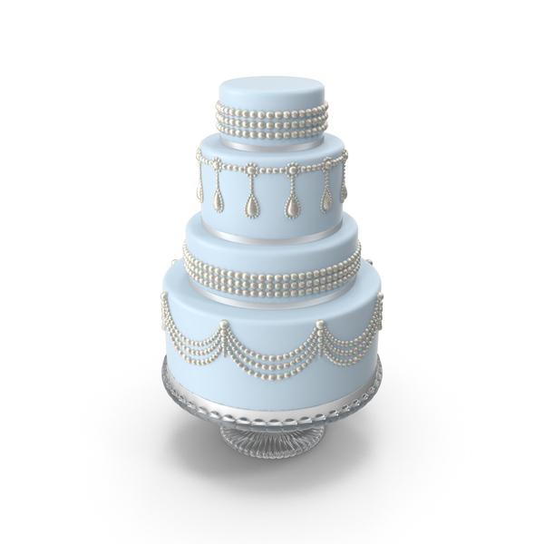 Light Blue Wedding Cake PNG & PSD Images