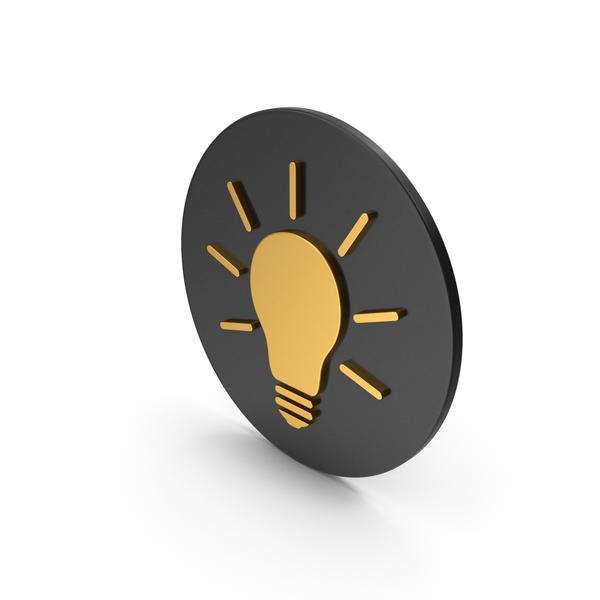 Lightbulb: Light Bulb Gold Icon PNG & PSD Images