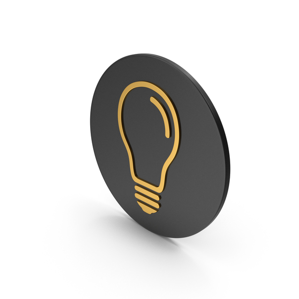Logo: Light Bulb Gold Icon PNG & PSD Images