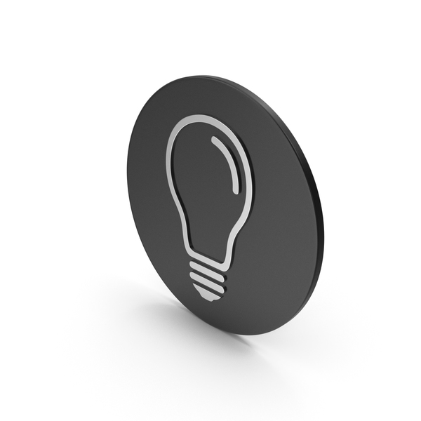 Logo: Light Bulb Silver Icon PNG & PSD Images