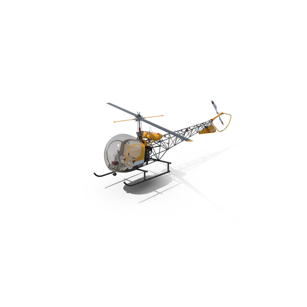 Light Helicopter Bell 47 Object