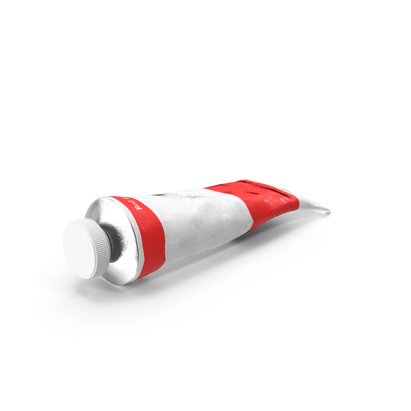 Light Red Acrylic Paint Tube PNG & PSD Images