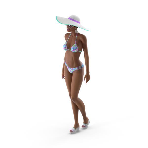 Woman: Light Skin Bikini Girl Standing Pose PNG & PSD Images
