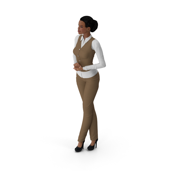 Light Skin Business Style Woman Standing Pose PNG & PSD Images