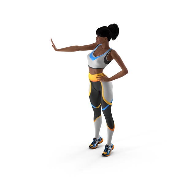 Athlete: Light Skin Fitness Woman Standing Pose PNG & PSD Images