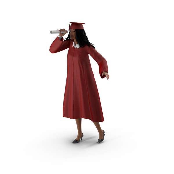 Light Skin Graduation Gown Woman PNG & PSD Images