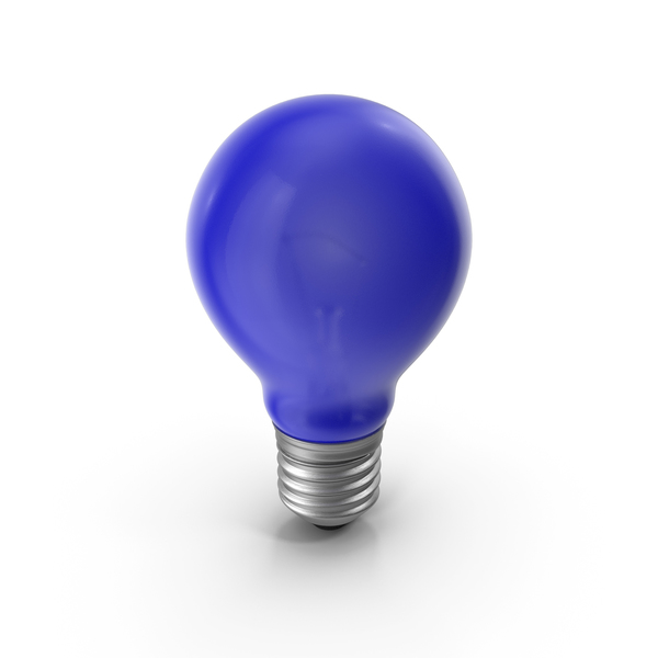 Lightbulb Blue Glossy PNG & PSD Images