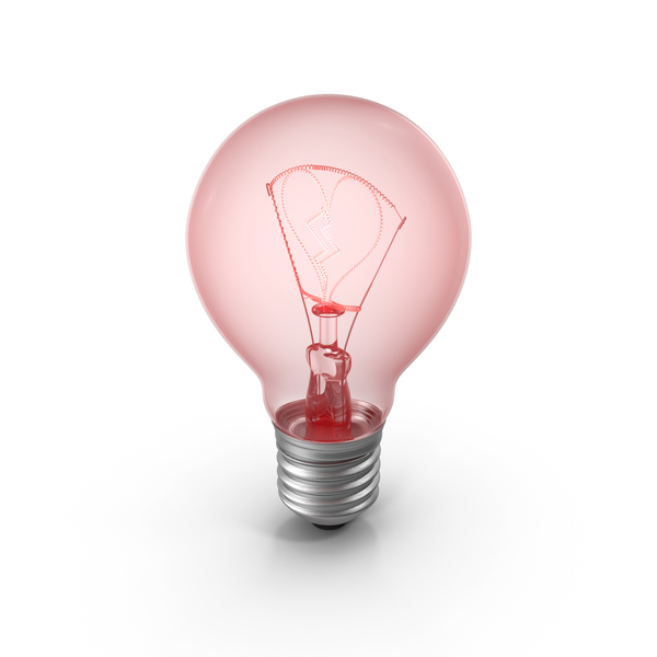 Lightbulb Broken Heart PNG & PSD Images