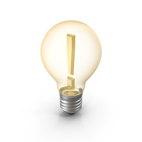 Lightbulb Exclamation Mark PNG & PSD Images