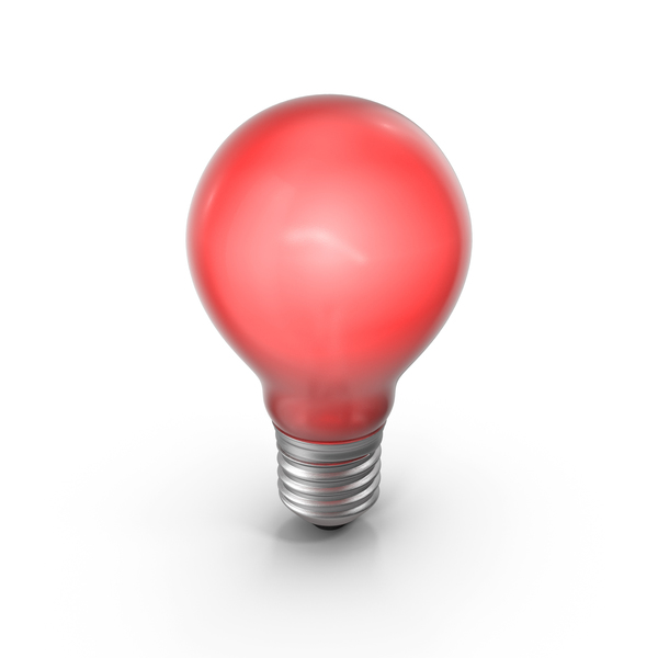 Lightbulb Red Glossy Turned On PNG & PSD Images